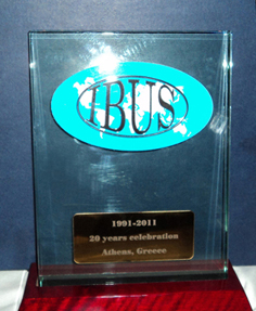 IBUS 20th anniversary plaque